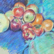 Still life  with grapefruit pastel on paper 24 x 32