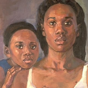 Woman and Child oil on canvas